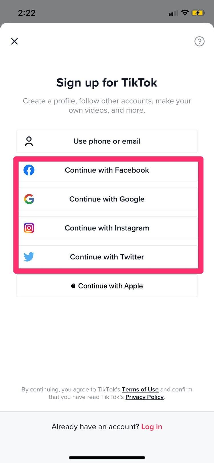 Untuk-melakukan-pendaftaran-akun-TikTok-Anda-bisa-menggunakan-beberapa-opsi-pilihan-mulai-dari-email-nomor-ponsel-melalui-akun-Google-atau-akun-Facebook